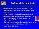 15.6 Solubility Equilibria