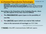 6.3 Assisted Reproductive Technologies