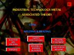 INDUSTRIAL TECHNOLOGY-METAL ASSOCIATED THEORY
