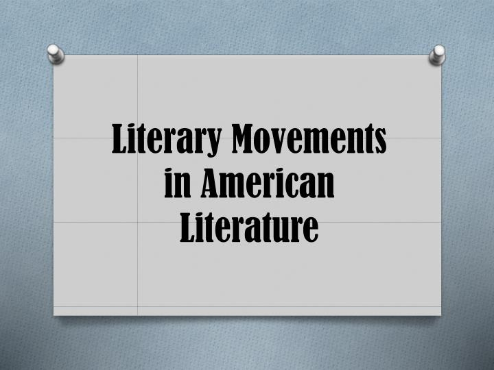 literary movements in american literature n.