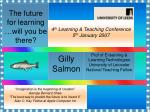 The future for learning …will you be there?