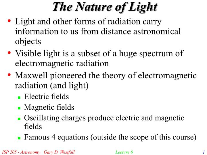 the nature of light n.