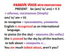 PASSIVE VOICE  WITH PREPOSITIONS