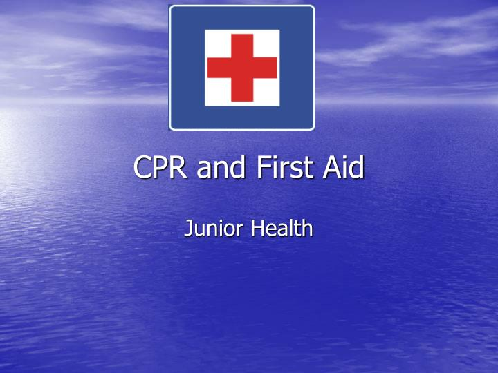 cpr and first aid n.