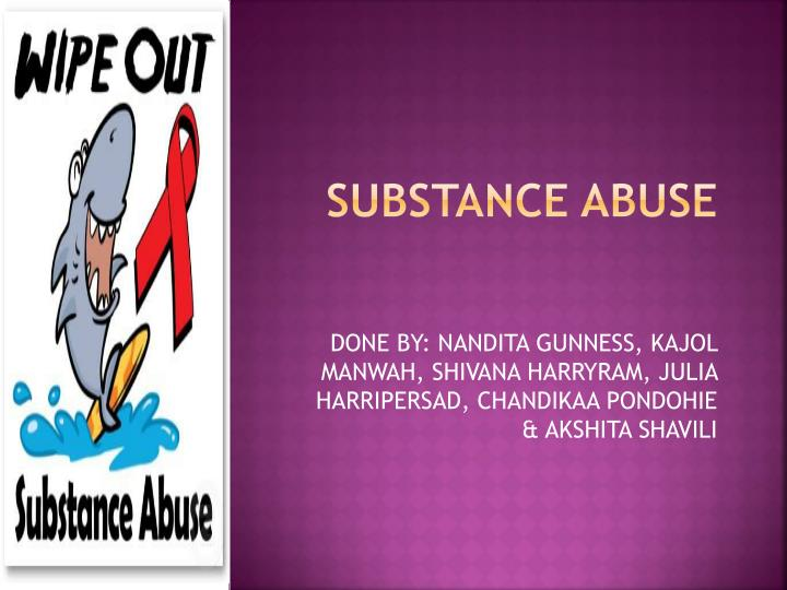 substance abuse n.