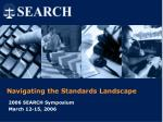 Navigating the Standards Landscape