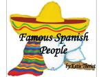 Famous Spanish People