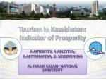Tourism in Kazakhstan: Indicator of Prosperity