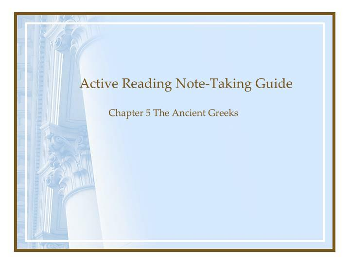 active reading note taking guide n.