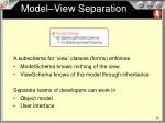Model–View Separation