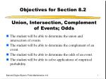 Objectives for Section 8.2