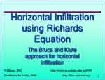 Horizontal Infiltration using Richards Equation