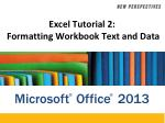 Excel Tutorial 2: Formatting Workbook Text and Data