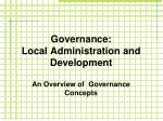 Governance: Local Administration and Development