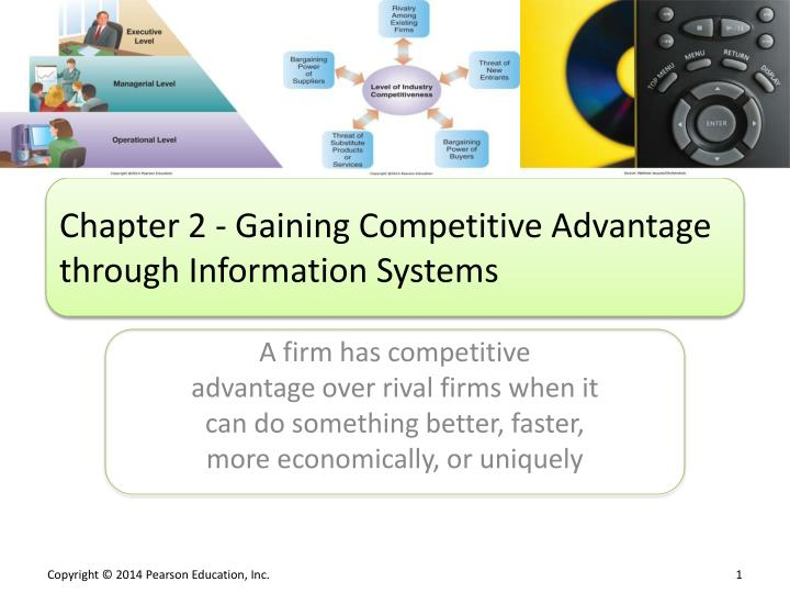 chapter 2 gaining competitive advantage through information systems n.