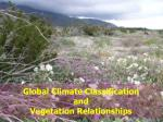 Global Climate Classification  and  Vegetation Relationships