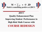 M  =  ∑  T    +  @  JD Math is something positive at JDCC