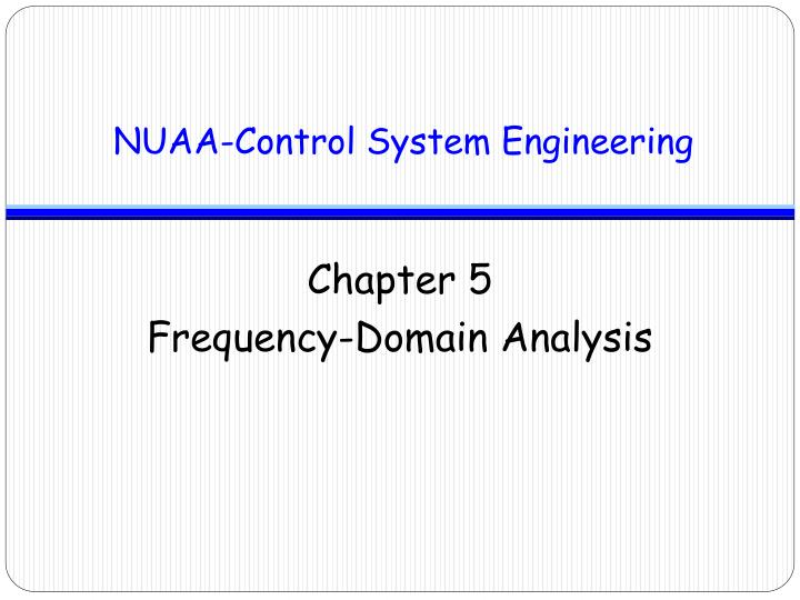 chapter 5 frequency domain analysis n.