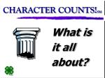 CHARACTER COUNTS! SM