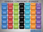 GENERAL  CONFERENCE  JEOPARDY