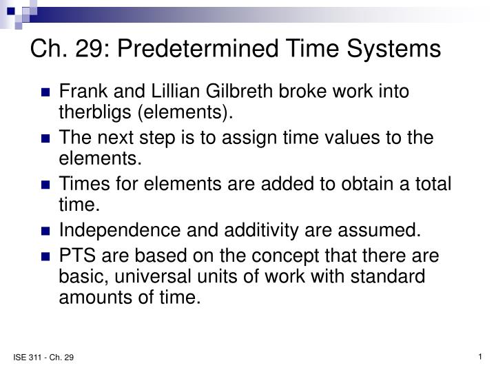 ch 29 predetermined time systems n.
