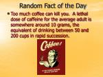 Random Fact of the Day