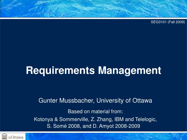 requirements management n.