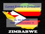 Current Events in Zimbabwe