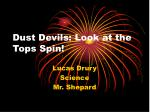 Dust Devils: Look at the Tops Spin!