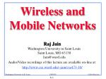 Wireless and Mobile Networks