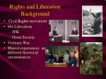 Rights and Liberation Background