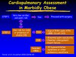 Cardiopulmonary Assessment in Morbidly Obese