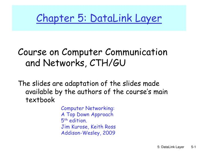 chapter 5 datalink layer n.