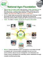 """Vision : To create a  """" Healthy, Literate and Prosperous Rural India """"."""