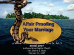 Affair Proofing Your Marriage