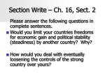 Section Write – Ch. 16, Sect. 2