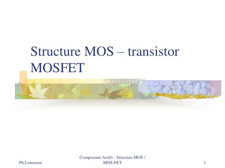 structure mos transistor mosfet n.
