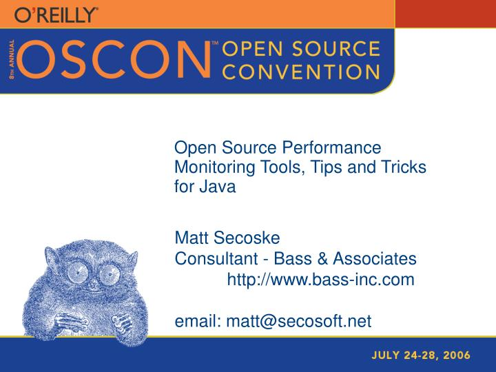 PPT - Open Source Performance Monitoring Tools, Tips and Tricks for