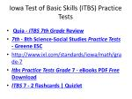 Iowa Test of Basic Skills ( ITBS ) Practice Tests