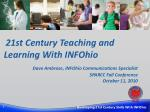 21st Century Teaching and Learning With INFOhio