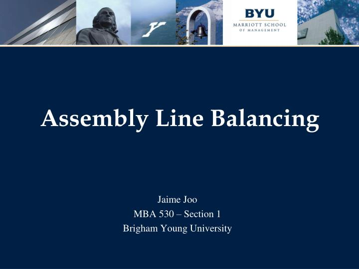 assembly line balancing n.