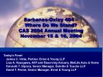 Sarbanes-Oxley 404 – Where Do We Stand? CAS 2004 Annual Meeting November 15 & 16, 2004