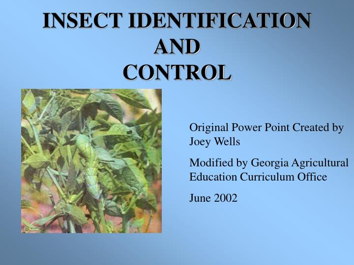 insect identification and control n.