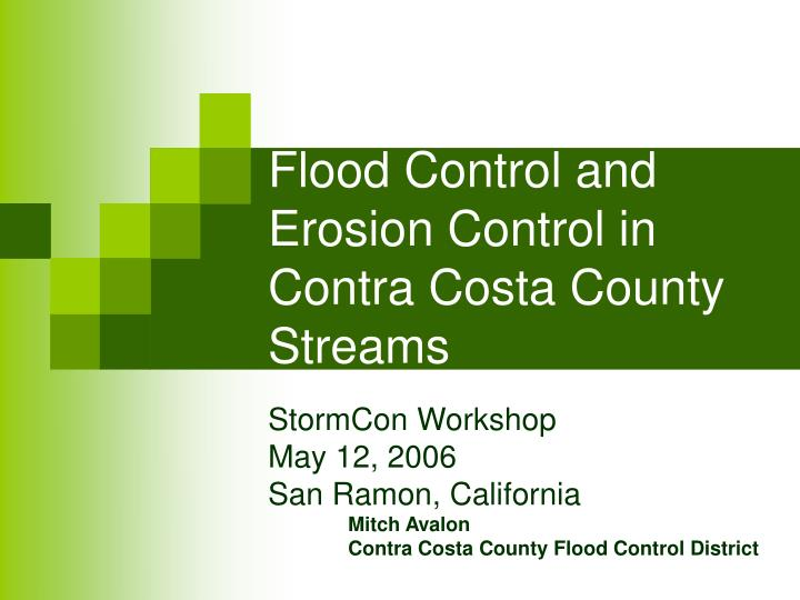 flood control and erosion control in contra costa county streams n.