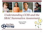 Understanding CCSS and the SBAC Summative Assessment