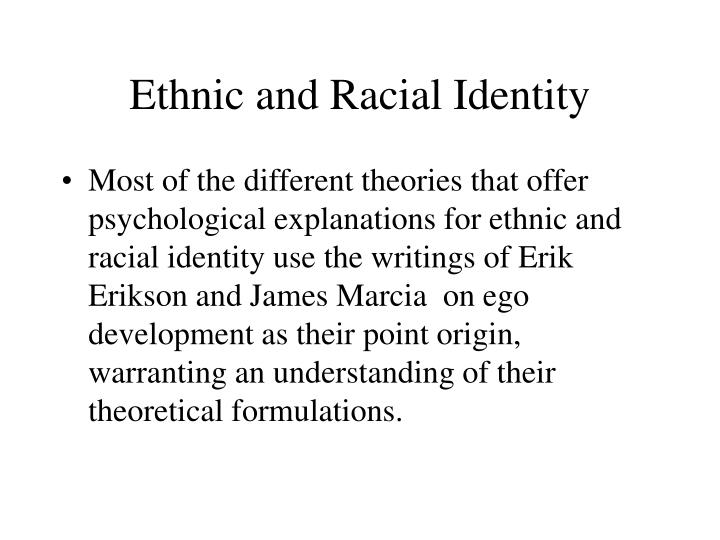 ethnic and racial identity n.