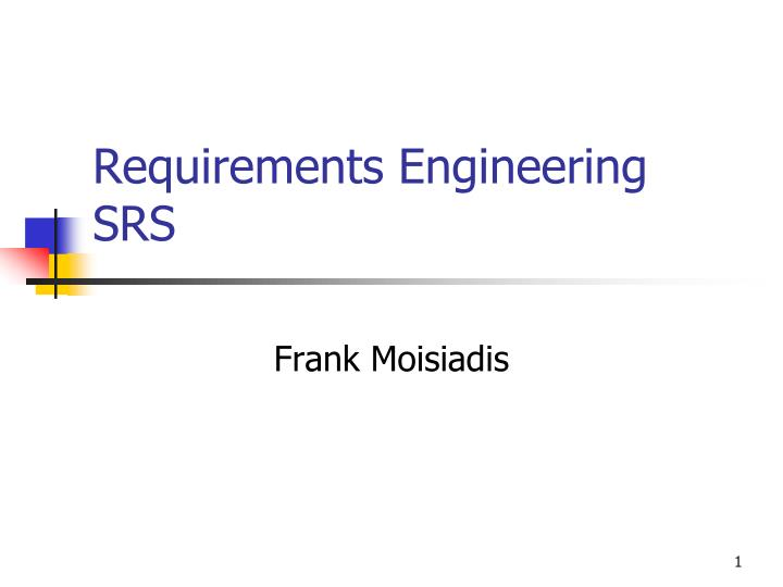 requirements engineering srs n.