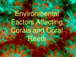 Environmental Factors Affecting Corals and Coral Reefs