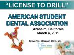 """""""LICENSE TO DRILL """""""