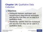 Chapter 14: Qualitative Data Collection
